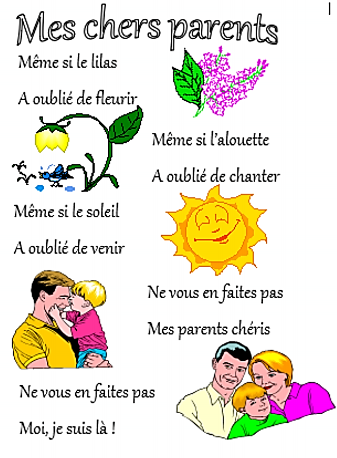 Poeme Mes Chers Parents Ecole Sainte Marie De Cossé Le Vivien